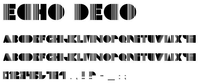 The Echo Deco font.