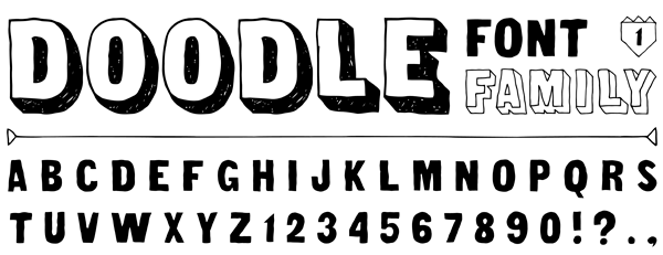 An of example of a font family.