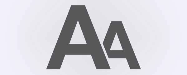An of example of two different font sizes.