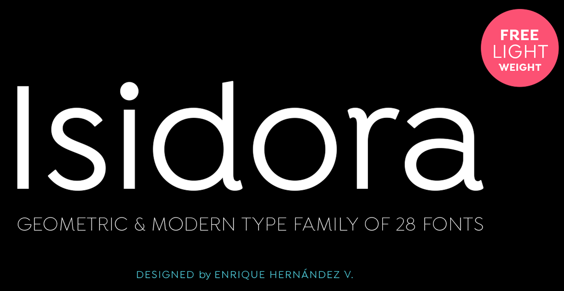 The Isidora font.