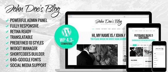 The John Doe's Blog theme.