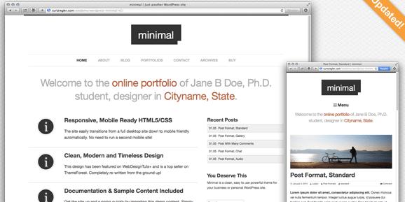 The Minimal theme.
