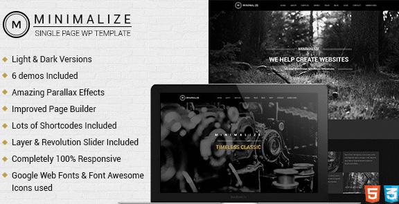The Minimalize theme.