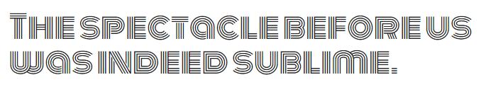 The Monoton font.