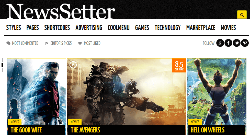 The NewsSetter theme.