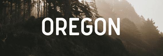 The Oregon font.
