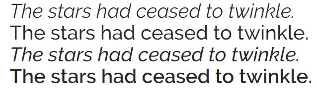 The Raleway font.