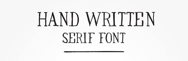 An of example of a serif font.