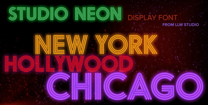 The Studio Neon Font