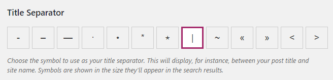 A screenshot of the title separator section.