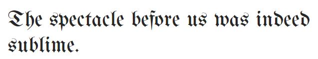 The UnifrakturMaguntia font.