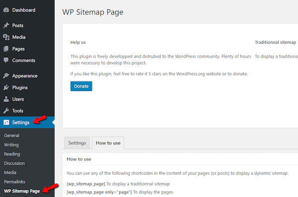 wp sitemap page plugin
