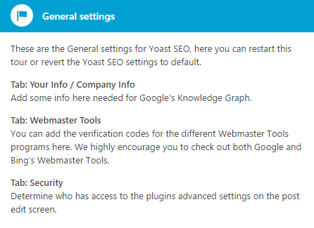 An example of a Yoast SEO tooltip.