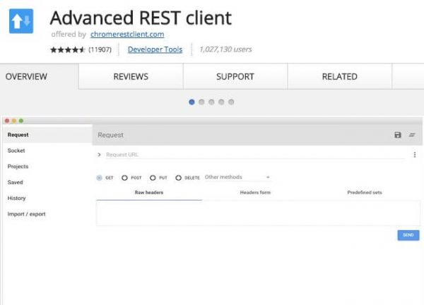 Advanced REST Client.