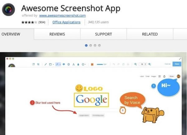 Awesome Screenshot App.