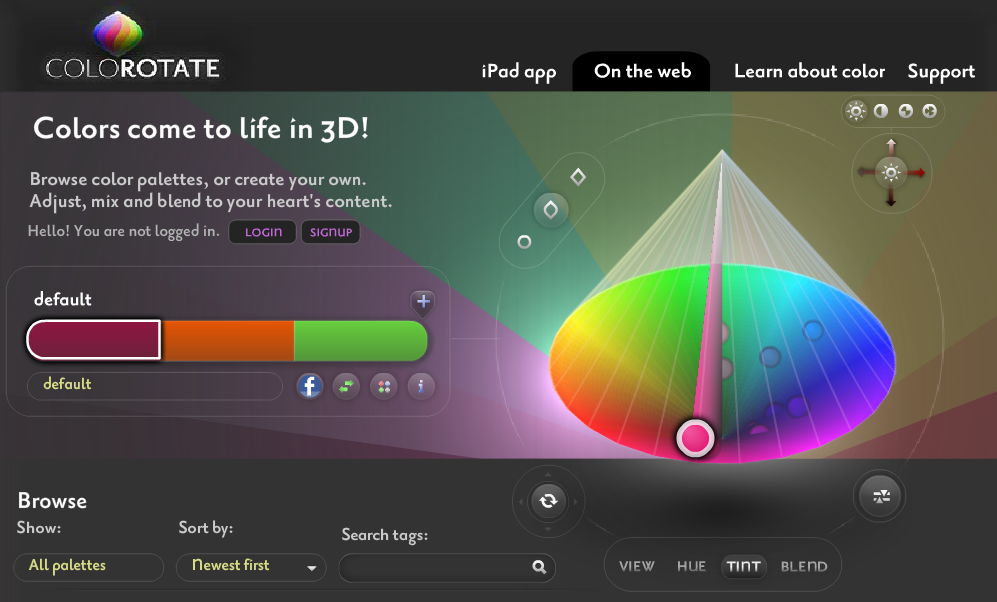 ColoRotate user interface