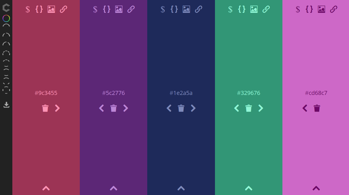 Colorcode user interface