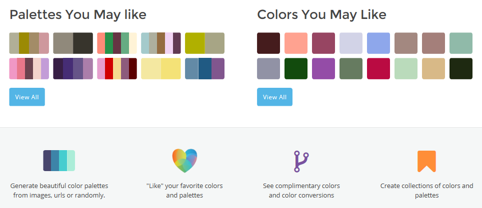 Colorfavs user interface