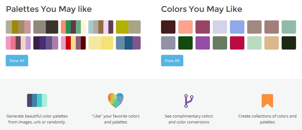 Colorfavs user interface