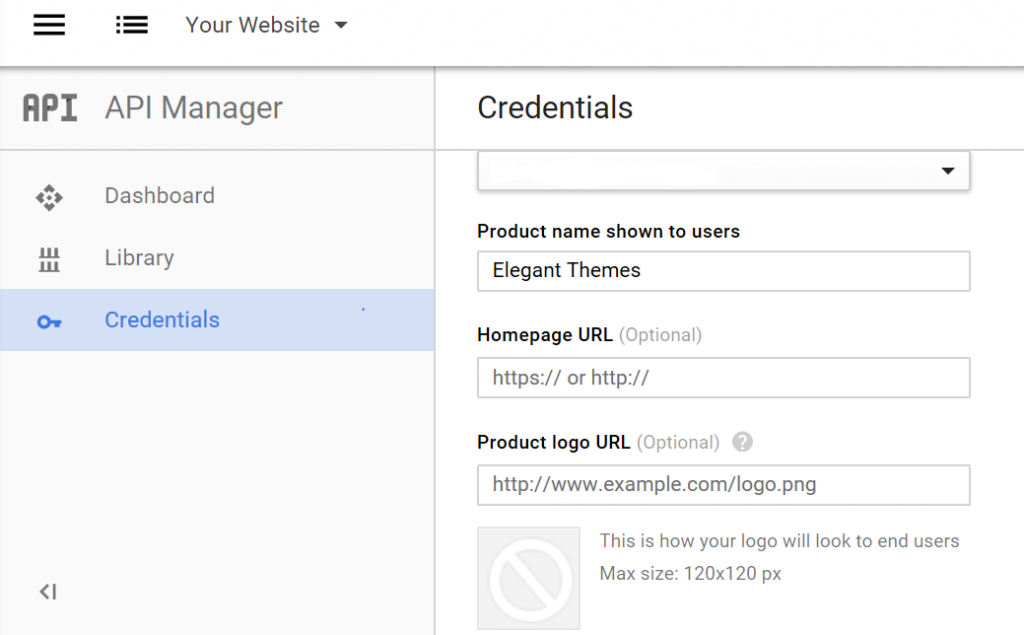 Credentials for One-Click Gmail Login