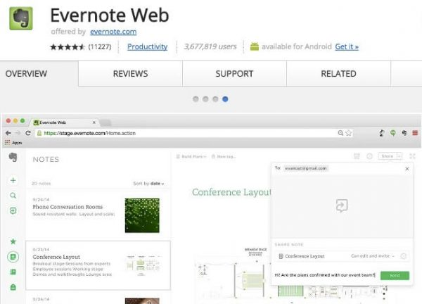 Evernote Web.