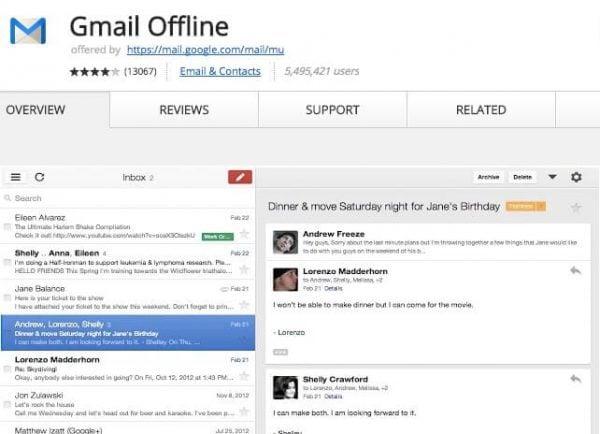 Gmail Offline.