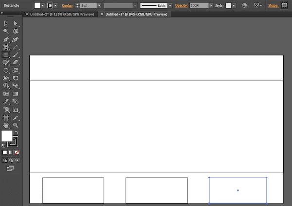 Illustrator wireframing