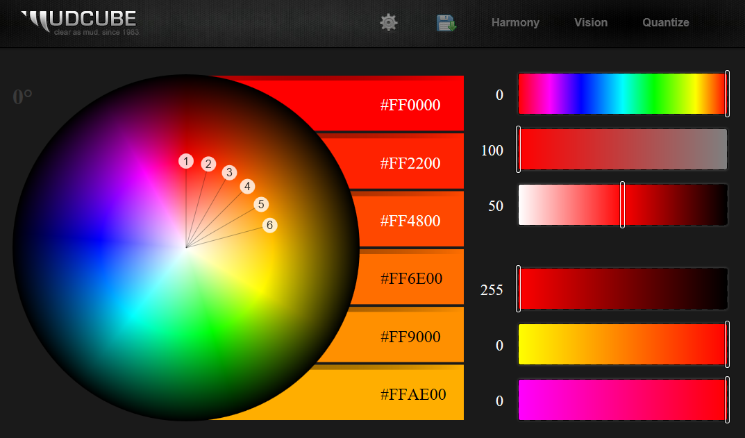 Mudcube Color Sphere user interface