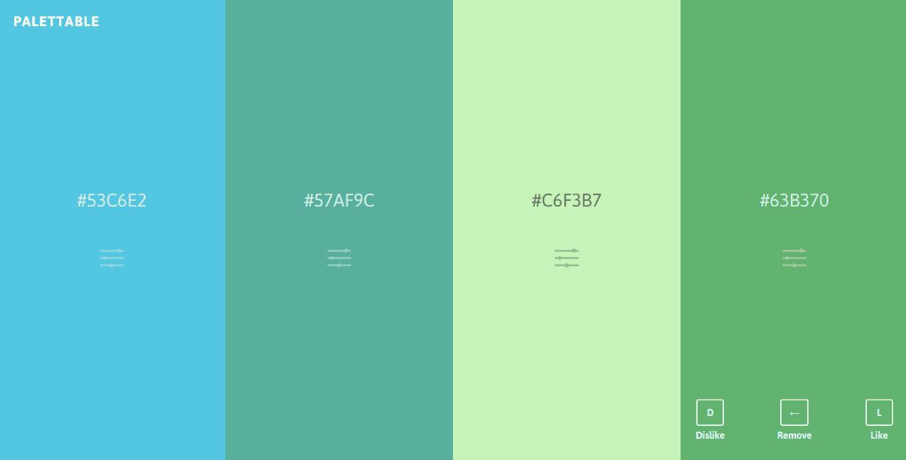 Palettable user interface