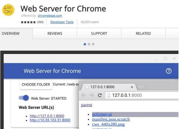 Web Server for Chrome.