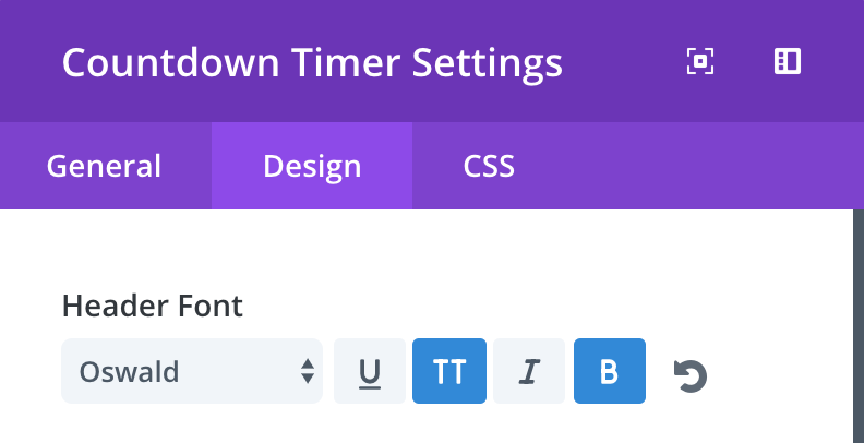 countdown-module-divi-advanced-design-settings