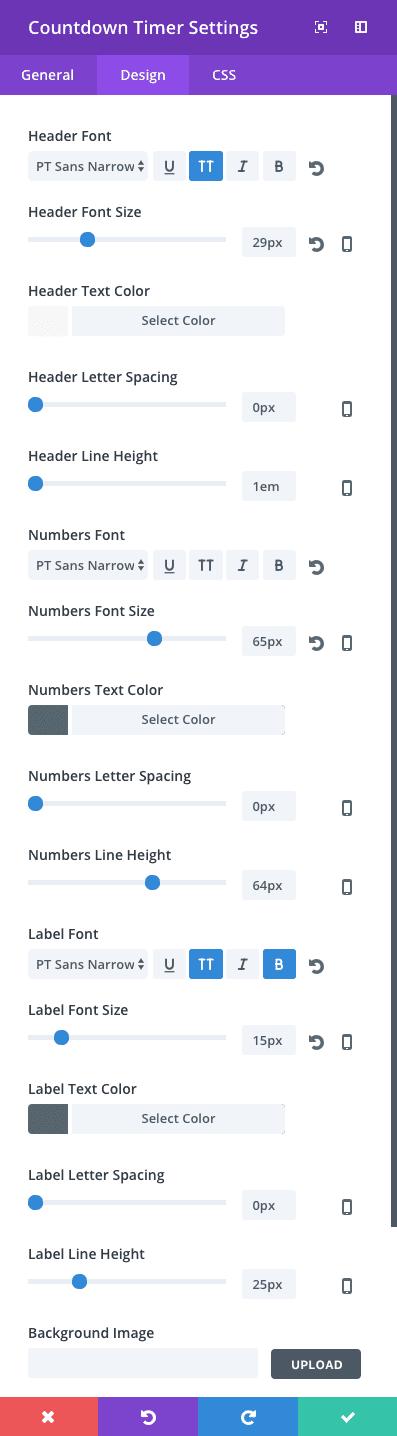 countdown-timer-design-settings