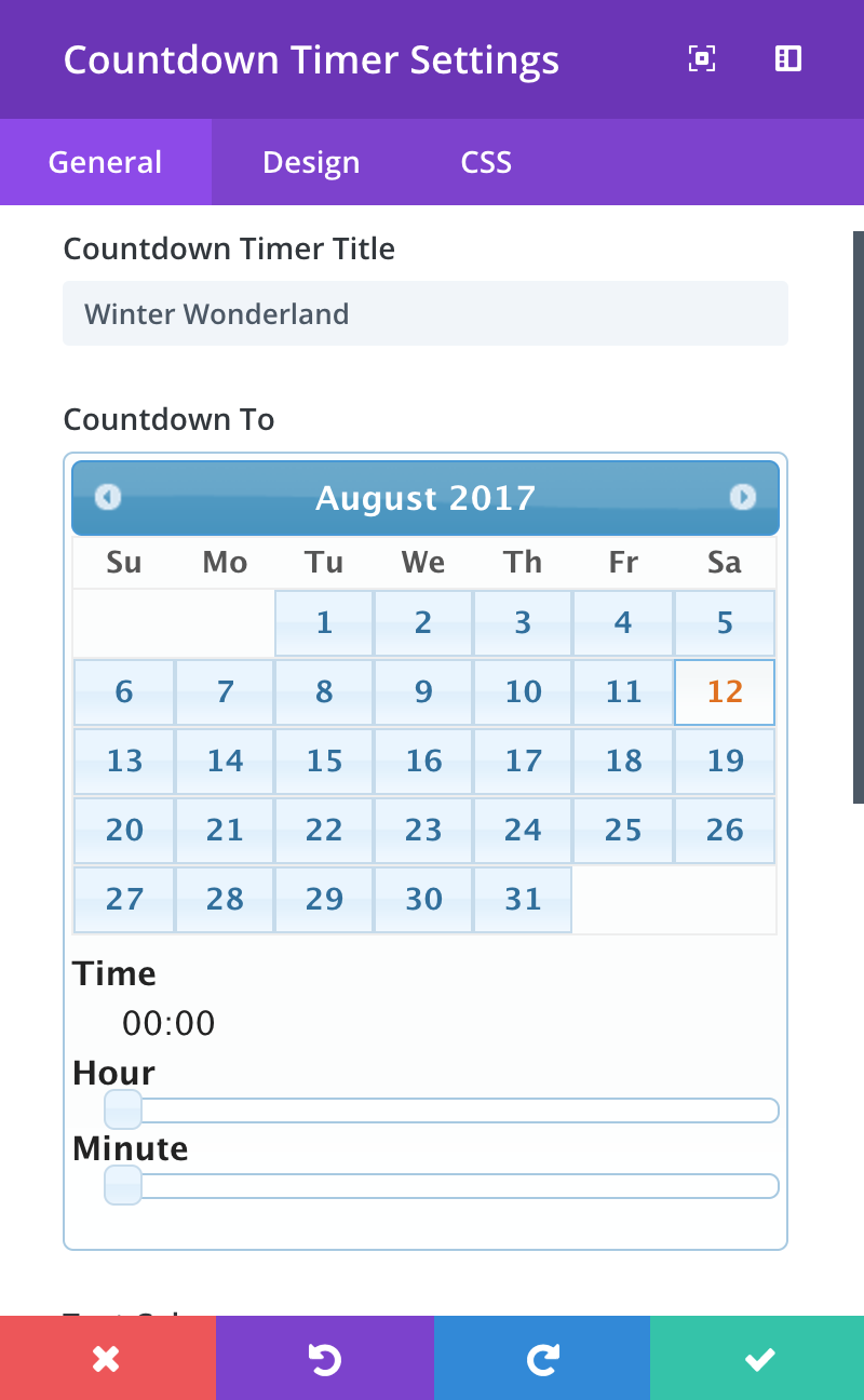 countdown-timer-settings