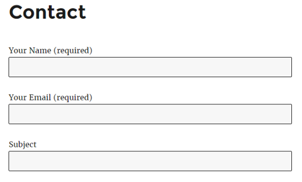 custom contact form