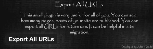 Plugin to export WordPress URLs