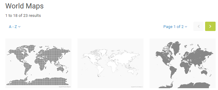 The Free Vector Maps homepage.