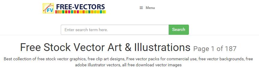 The Free-Vectors homepage.