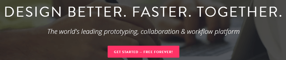 A screenshot from InVision's homepage