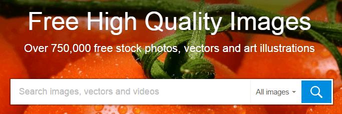 The Pixabay homepage.