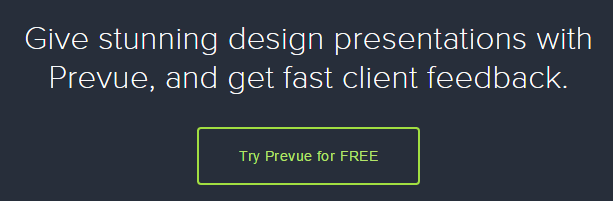 A screenshot from Prevue's homepage