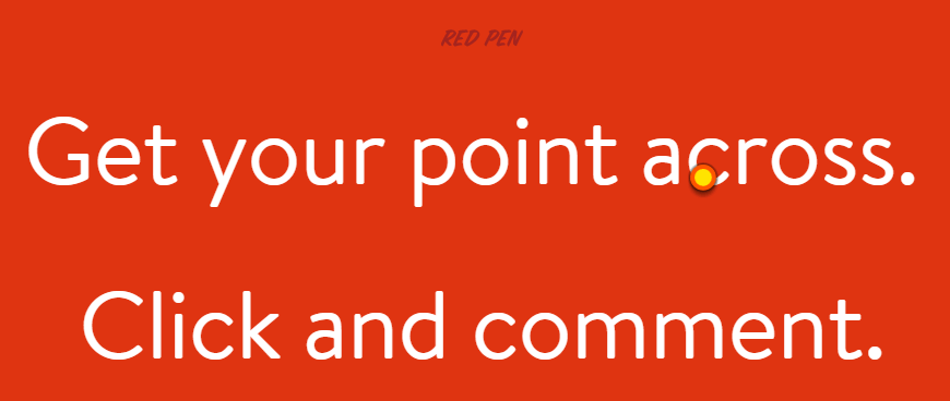 A screenshot from Red Pen's homepage.