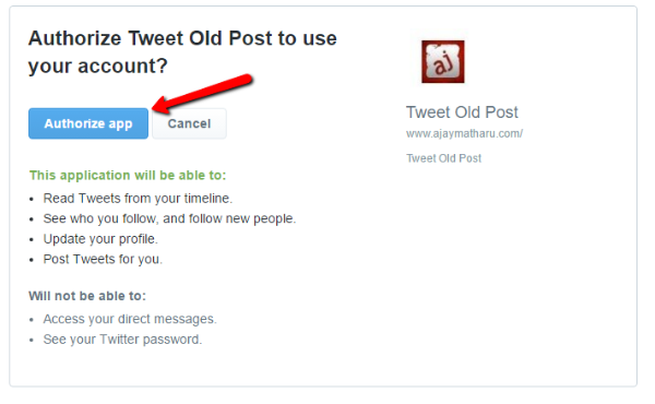 Revive Old Post Authorize App