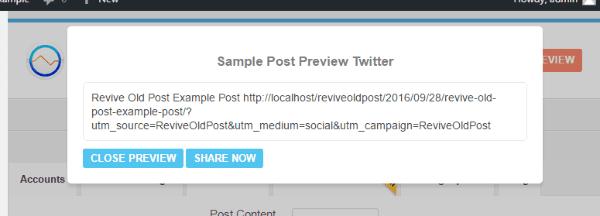 Revive Old Post - Sample Post