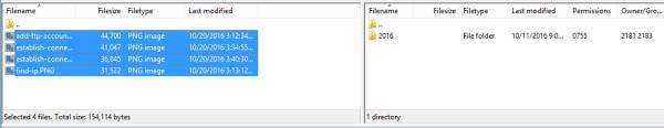 Uploading media files.