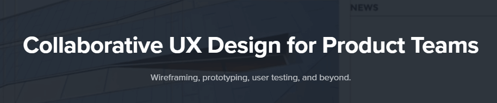 A screenshot from UXPin's homepage