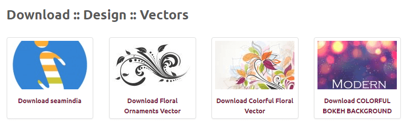 The Vectors4All homepage.