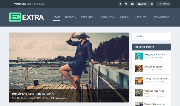 Extra Full Screen WordPress themes