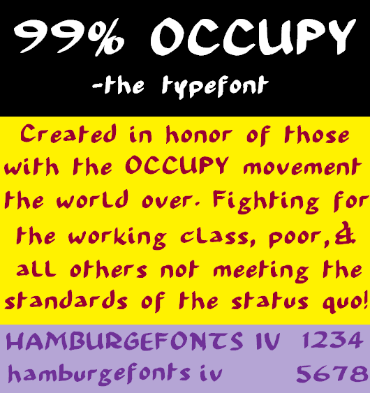 99% Occupy brush calligraphy
