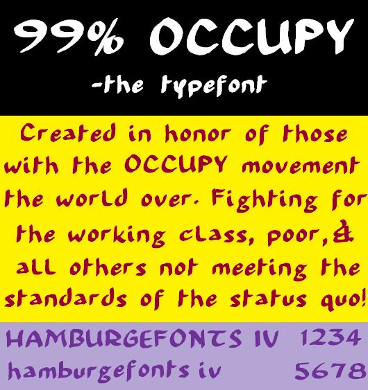 99% Occupy brush calligraphy