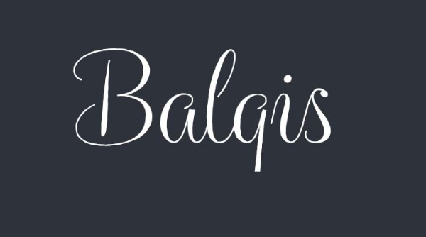 Balqis handwriting font